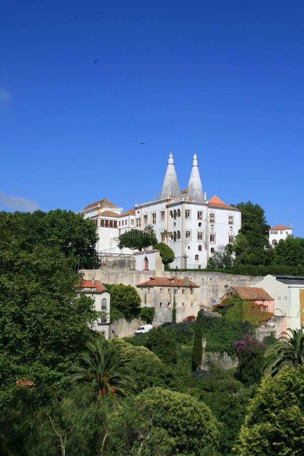 Palacio en Portugal foto de archivo