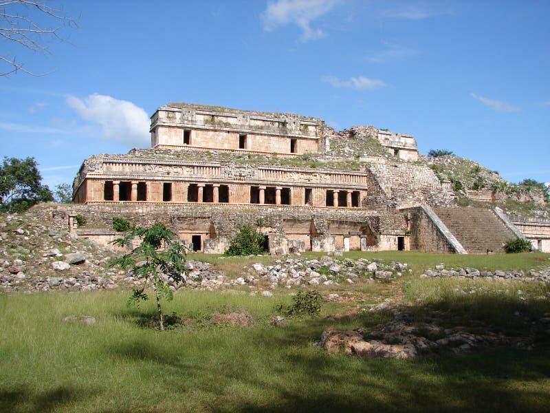 Palacio en Sayil, MX fotos de archivo