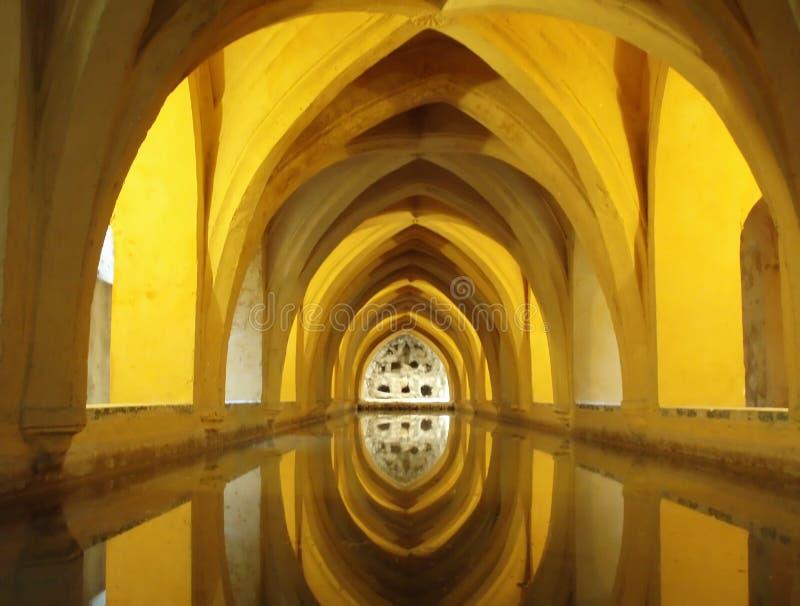 Palacio en Sevilla foto de archivo