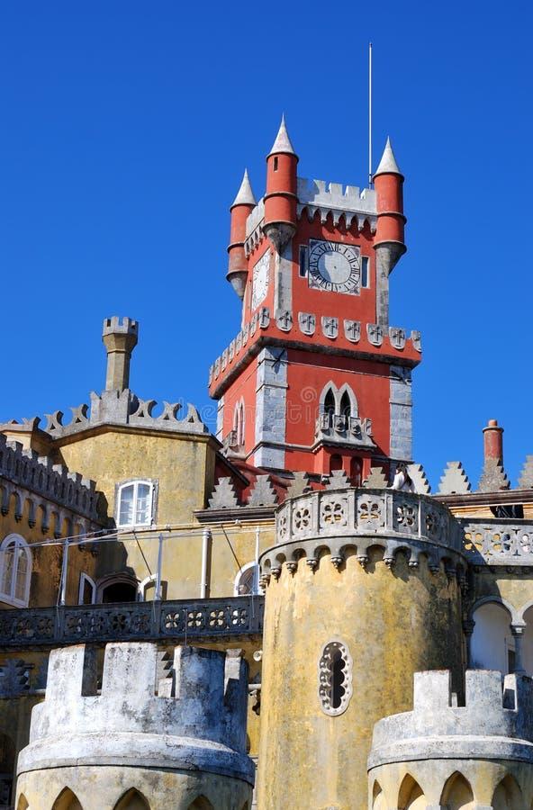 Palacio en Sintra, Portugal de Pena foto de archivo