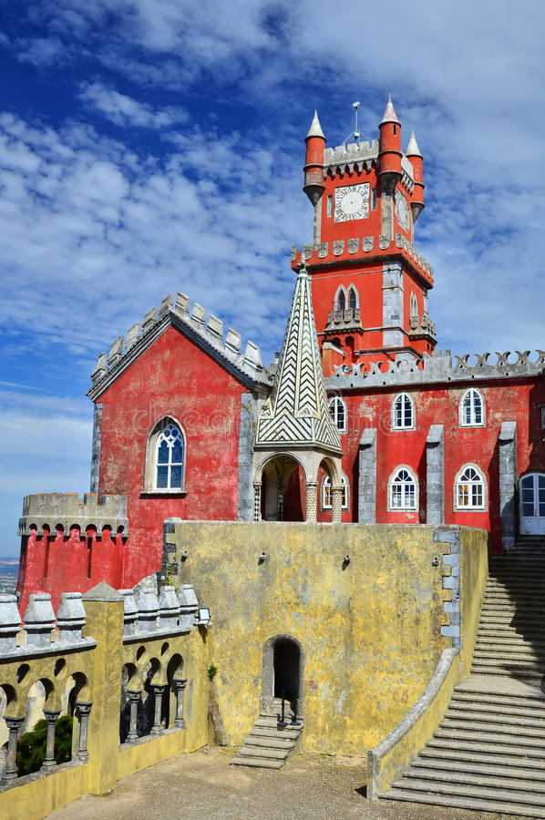 Palacio en Sintra, Portugal de Pena imagenes de archivo
