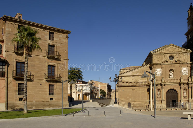 Palacio Episcopal and Cathedral, Calahorra, Spain. Palacio episcopal and cathedral; Calahorra; La Rioja; Spain stock image