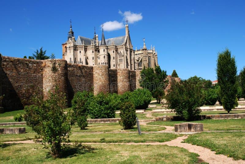 Palacio Episcopal de Gaudi à Astorga images stock