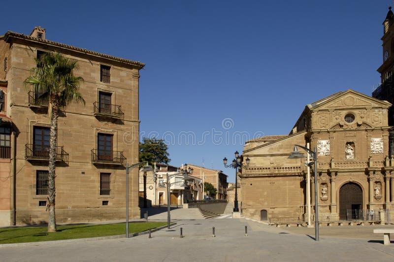 Palacio episkopal und Kathedrale, Calahorra, Spanien stockbild