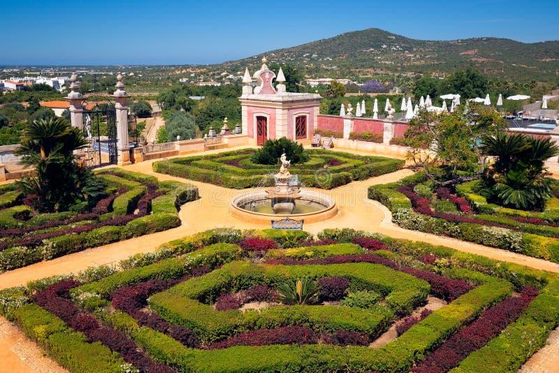 Palacio Estoi, Portugal, The View of the Palace of Estoi royaltyfri fotografi