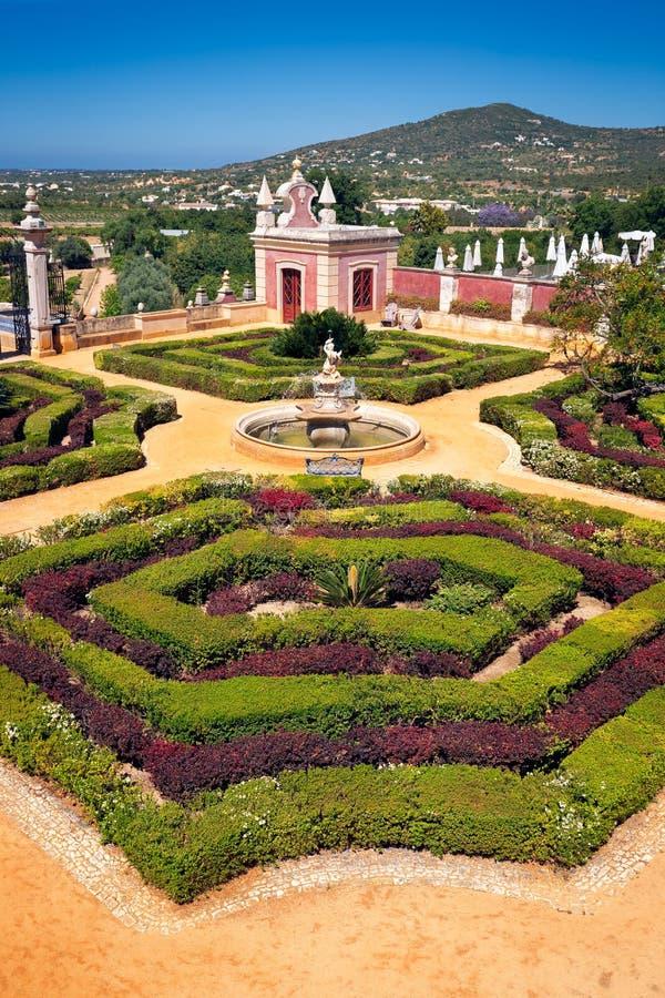 Palacio Estoi, Portugal, The View of the Palace of Estoi royaltyfria bilder