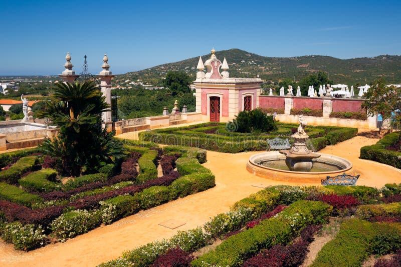 Palacio Estoi, Portugal, The View of the Palace of Estoi royaltyfria foton