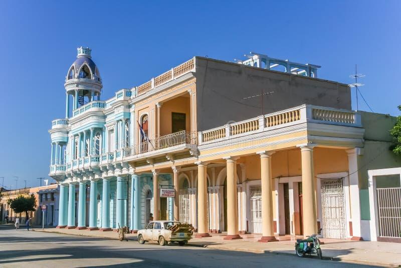 Palacio Ferrer in het historische centrum van Cienfuegos royalty-vrije stock afbeelding