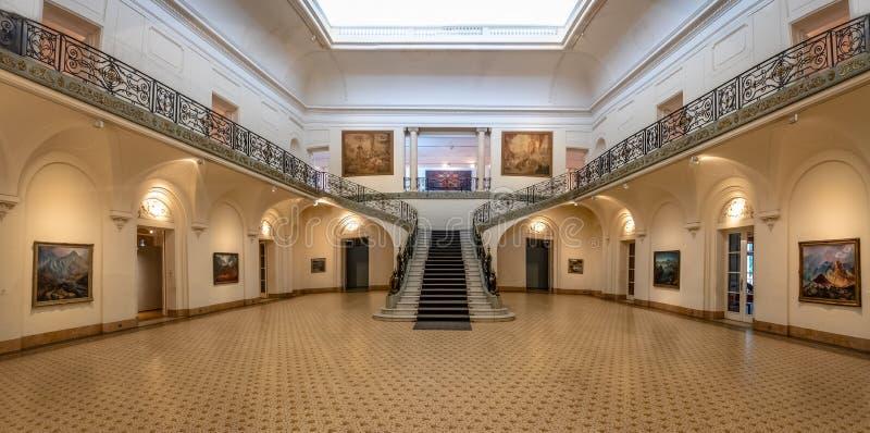 Palacio Ferreyra - интерьер Museo Главн de Bellas Artes Evita музея изящных искусств Evita - Cordoba, Аргентина стоковое фото