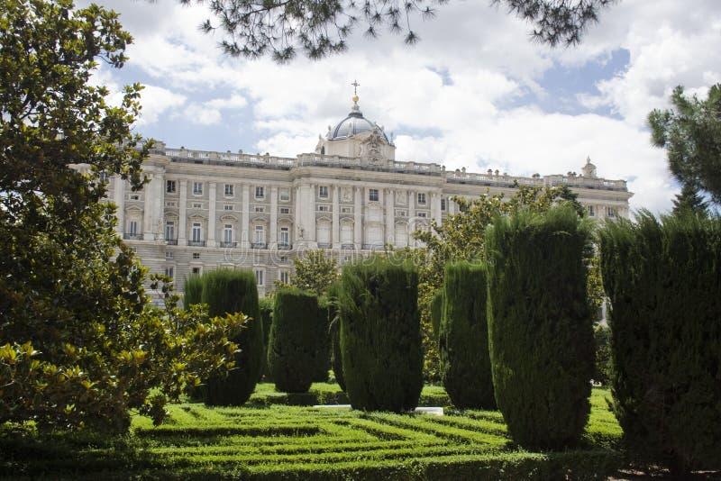 Palacio from garden royalty free stock image