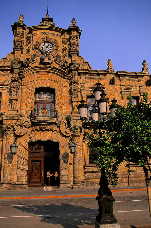 Palacio gubernamental Guadalajara, México imagen de archivo libre de regalías