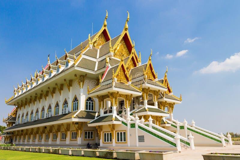 Palacio hermoso en Wat Khun Inthapramun fotografía de archivo libre de regalías