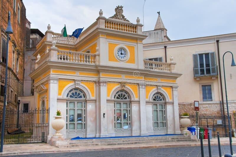 Palacio histórico andria Puglia Italia foto de archivo libre de regalías