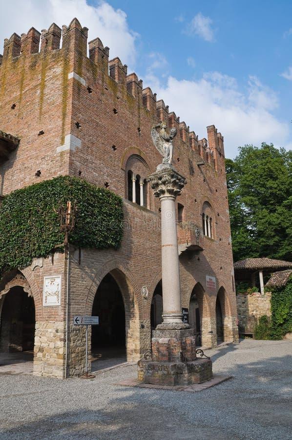 Palacio histórico de Emilia-Romagna. Italia. fotografía de archivo