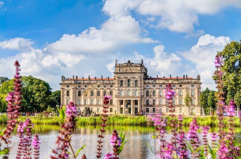 Palacio histórico de Ludwigslust en Alemania septentrional foto de archivo