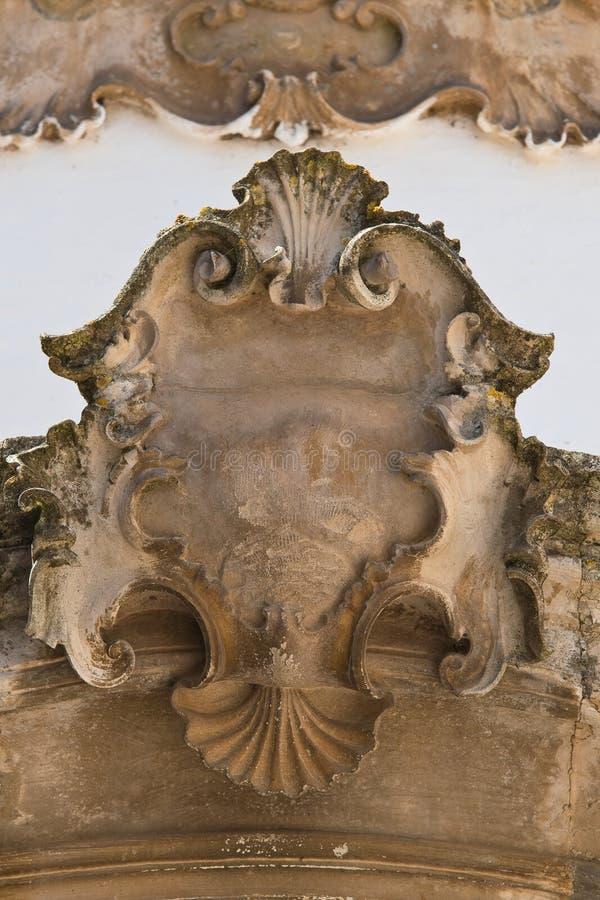 Palacio histórico Martina Franca Puglia Italia foto de archivo