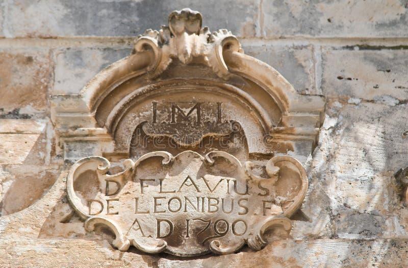 Palacio histórico Martina Franca Puglia Italia imagen de archivo libre de regalías