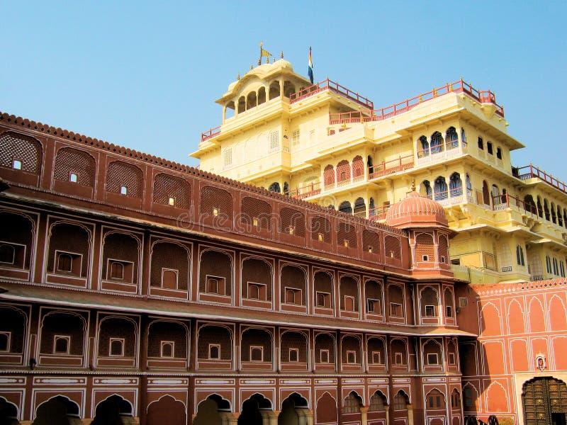 Palacio Jaipur de la ciudad fotos de archivo libres de regalías