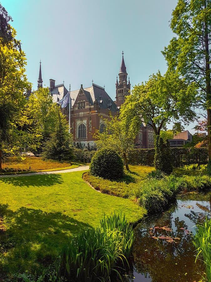 Palacio La Haya de la paz imagen de archivo libre de regalías