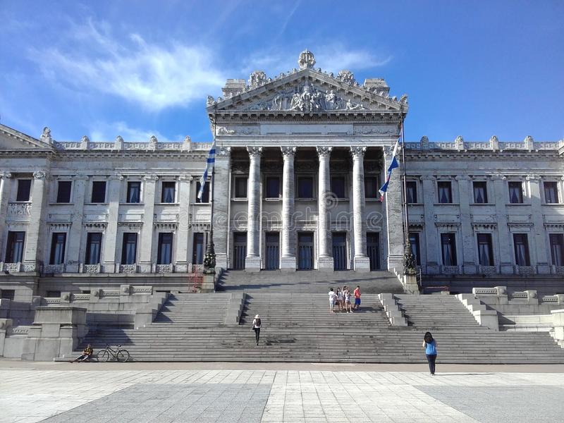 Palacio Legislativo av Montevideo, Uruguay royaltyfria bilder