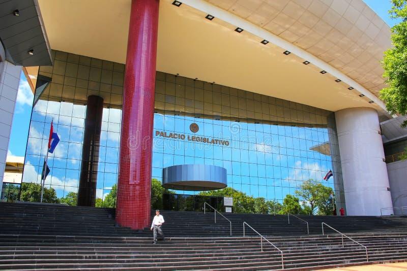 Palacio legislativo en Asuncion, Paraguay imagenes de archivo