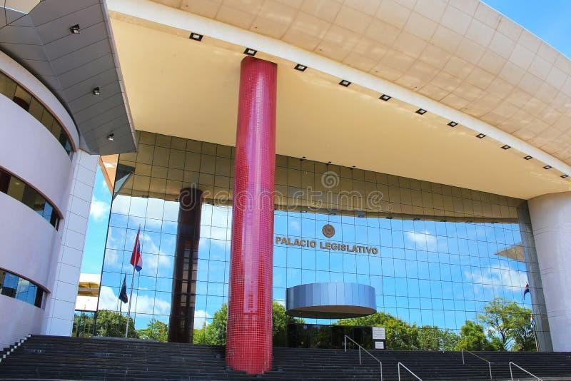 Palacio legislativo en Asuncion, Paraguay fotografía de archivo libre de regalías