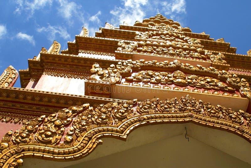 Palacio magnífico en Pnom Penh fotografía de archivo