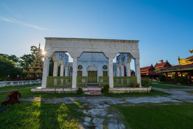 Palacio Mandalay, Myanmar de Mandalay foto de archivo libre de regalías