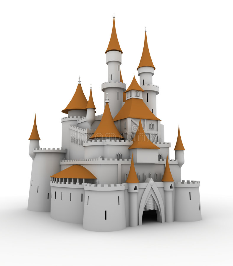 Palacio medieval ilustración del vector