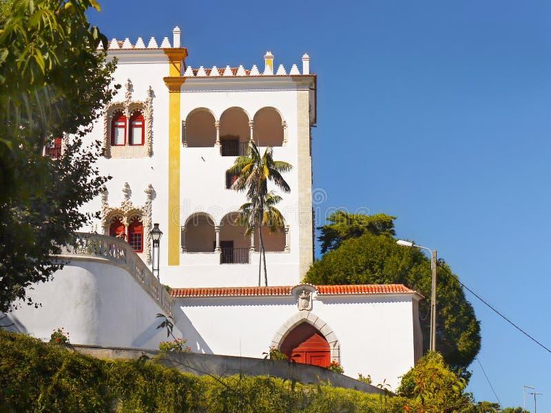 Palacio nacional de la ciudad de Sintra, Portugal imagen de archivo libre de regalías
