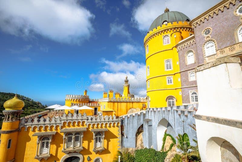 Palacio nacional de Pena fotos de archivo