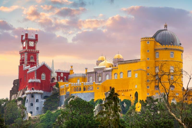 Palacio nacional de Pena, señal famosa, Portugal imagenes de archivo