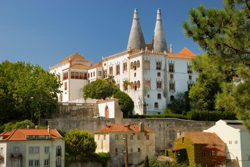 Palacio Nacional de Sintra fotografia de stock