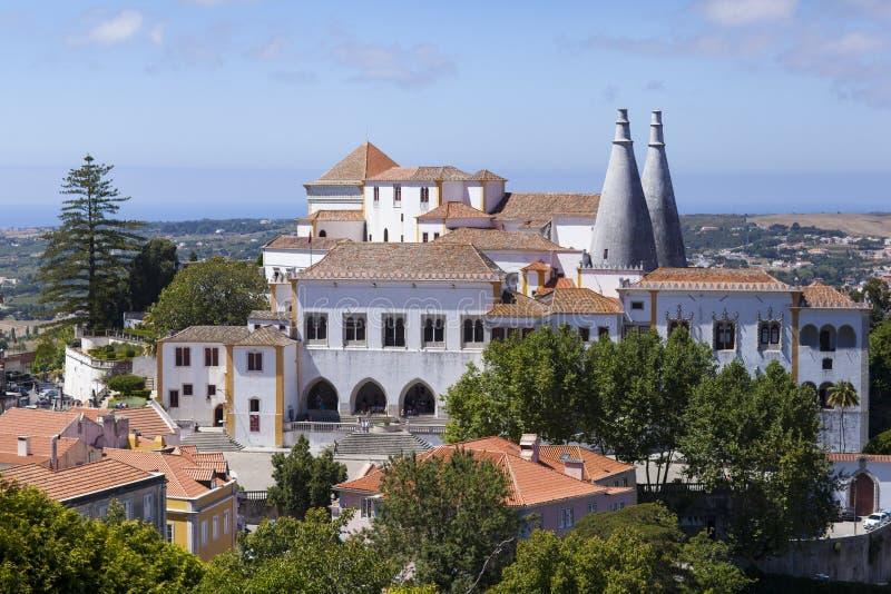 Palacio Nacional de Sintra imagen de archivo