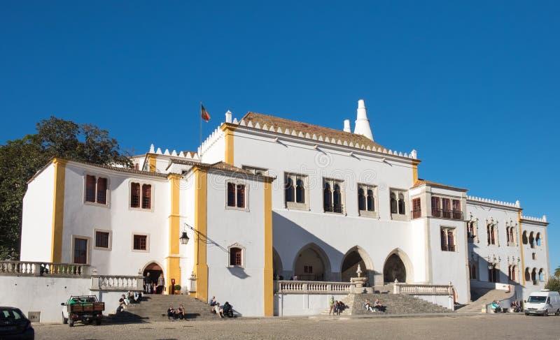 Palacio nacional de Sintra, Portugal imagen de archivo libre de regalías