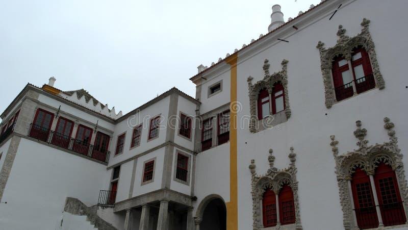 Palacio nacional de Sintra, Sintra, Portugal foto de archivo