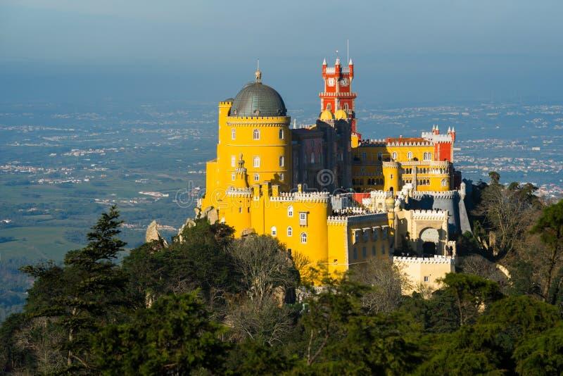 Palacio nacional del palacio de Pena en Sintra Sintra, Lisboa portugal fotografía de archivo libre de regalías
