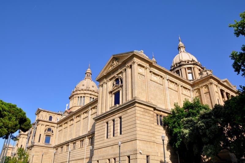 Palacio Nacional En Barcelona Imágenes de archivo libres de regalías