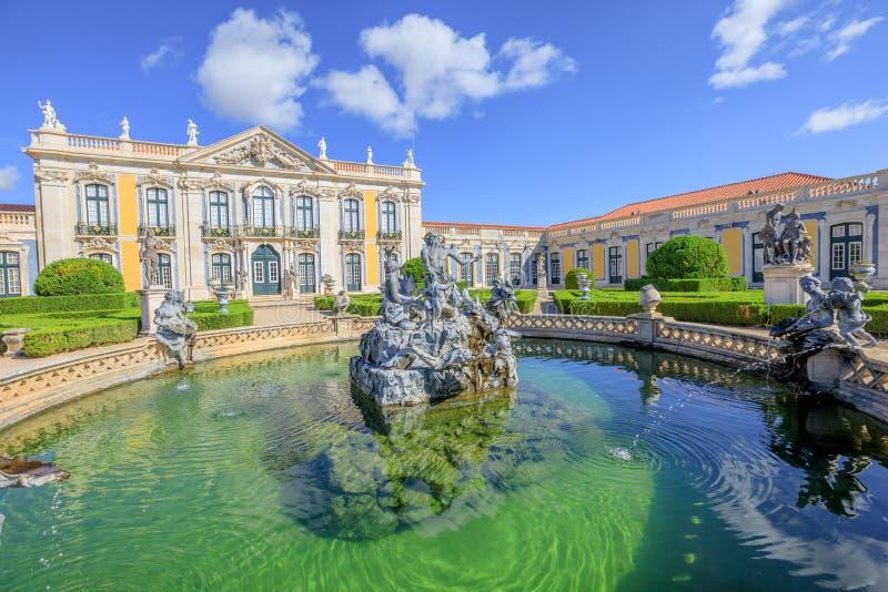 Palacio nacional Sintra de Queluz foto de archivo