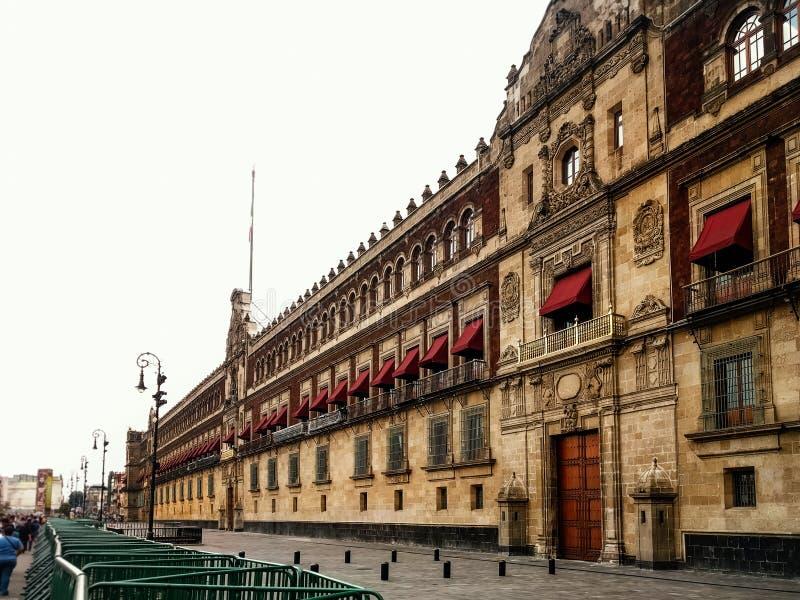 Palacio Nacional w Meksyk, Meksyk rządowy Zocalo Dist obraz stock