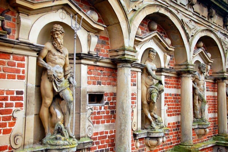 Palacio o castillo, Hilleroed, Dinamarca de Frederiksborg fotografía de archivo libre de regalías