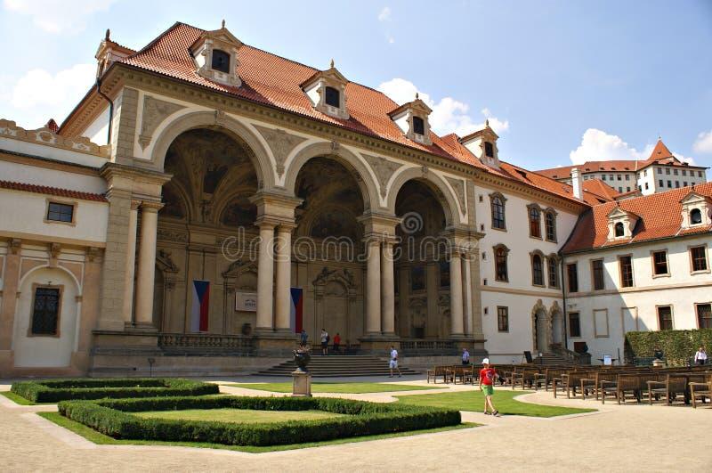 Palacio Praga de Wallenstein y el jardín - senado de la República Checa foto de archivo libre de regalías