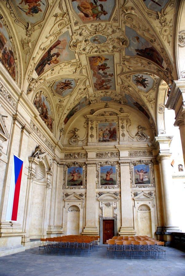 Palacio Praga - senado de Wallenstein de la República Checa foto de archivo