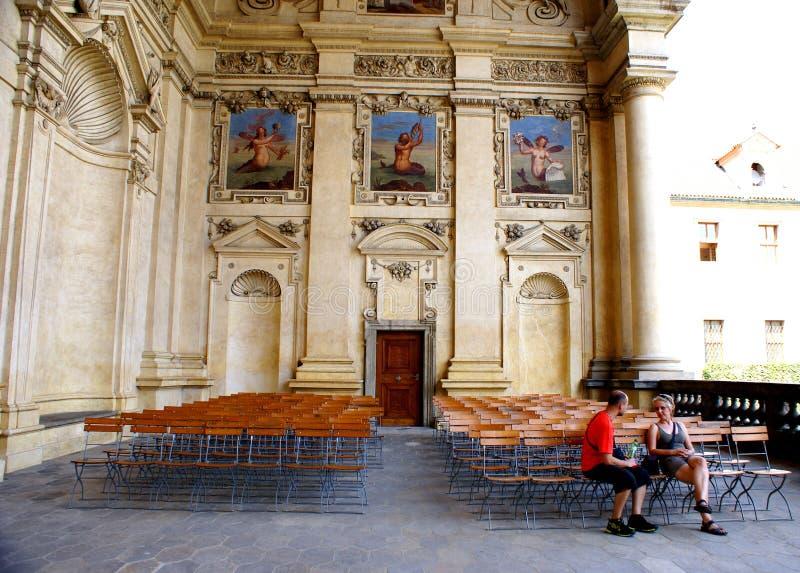 Palacio Praga - senado de Wallenstein de la República Checa imagen de archivo libre de regalías