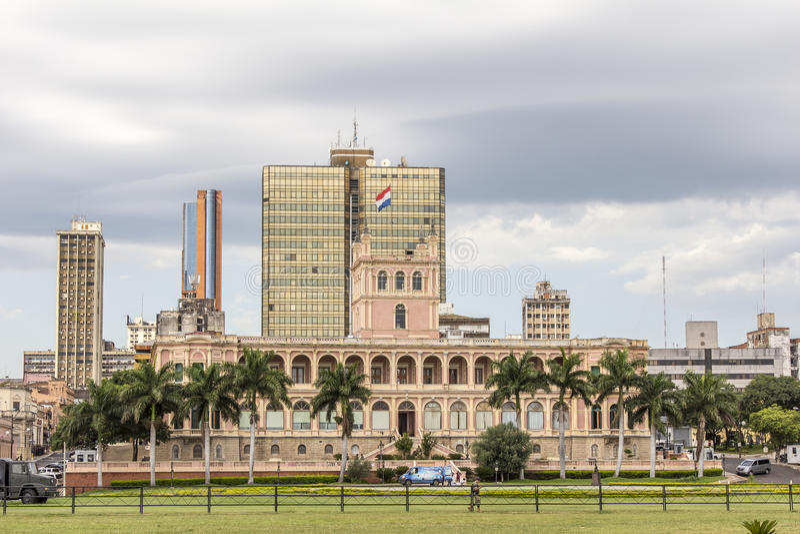 Palacio presidencial de López Capital de Asuncion, Paraguay imagen de archivo libre de regalías