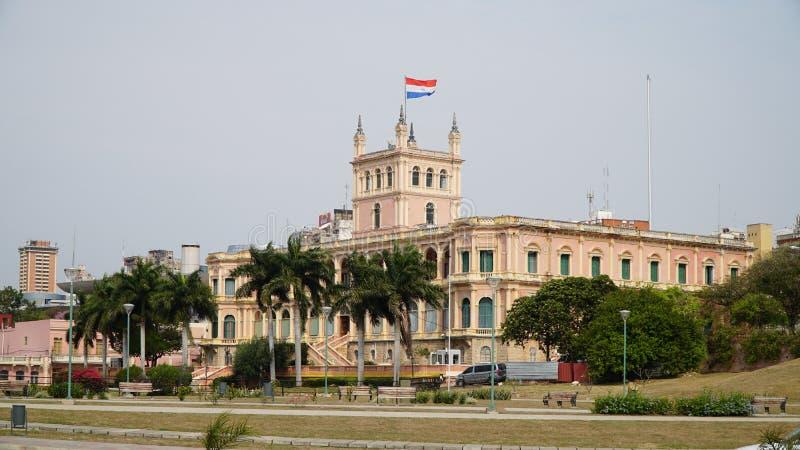 Palacio presidencial de López, en Asuncion, Paraguay fotos de archivo libres de regalías