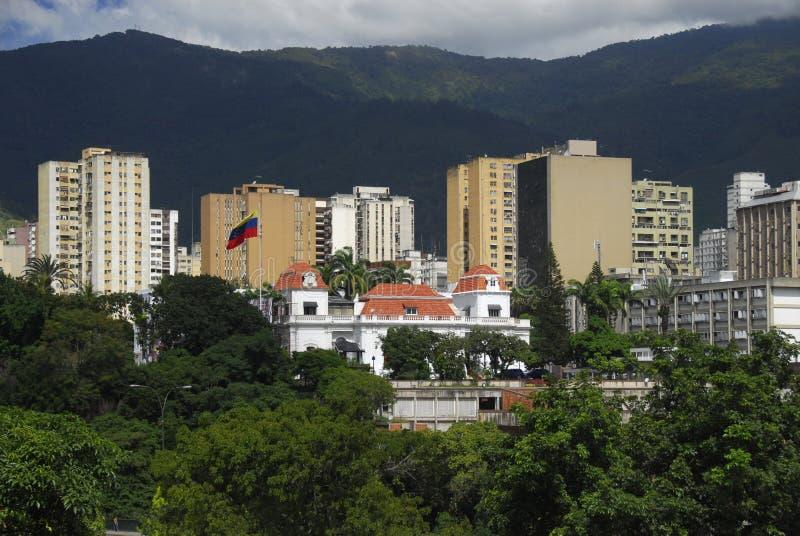 Palacio presidencial de Miraflores en Caracas foto de archivo