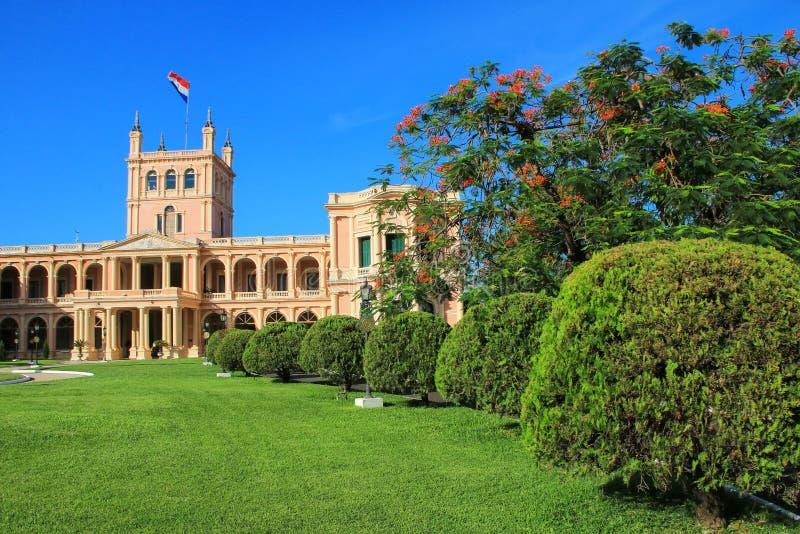 Palacio presidencial en Asuncion, Paraguay fotografía de archivo