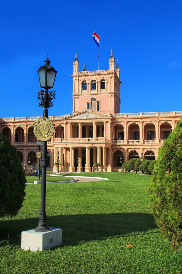 Palacio presidencial en Asuncion, Paraguay imágenes de archivo libres de regalías