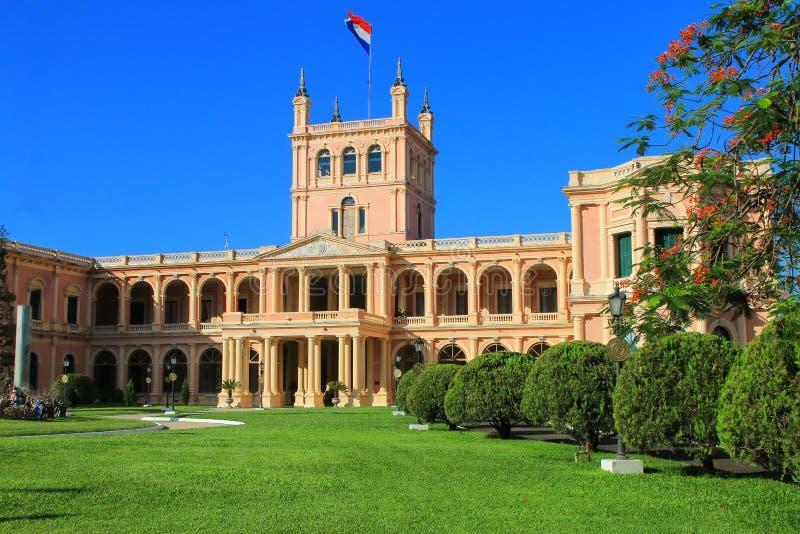 Palacio presidencial en Asuncion, Paraguay imagen de archivo